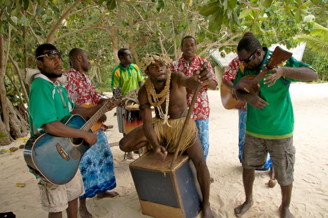 Pele Island string band